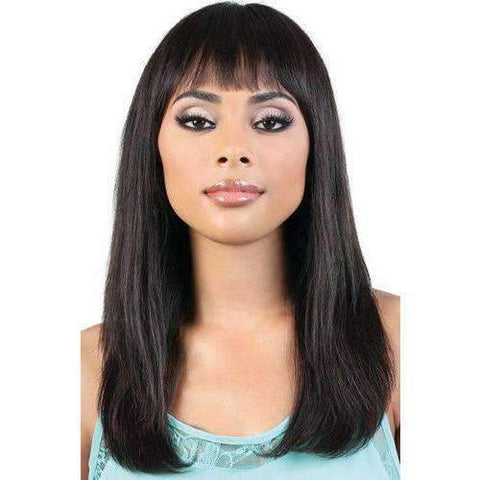 Image of HPR.GRETA - Long Length Straight Persian Human Hair Wig | Motown Tress - African American Wigs