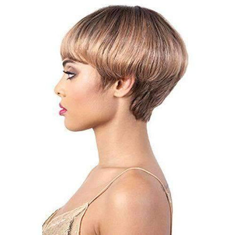 Image of HR. Amber - Short Length Curly Human Hair Wig | Motown Tress - African American Wigs