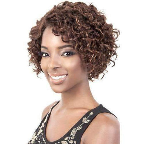 HR. Camila - Short Length Wavy Human Hair Wig | Motown Tress - African American Wigs