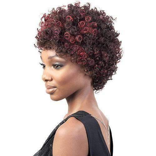 HR. Dee - Short Length Curly Human Hair Wig | Motown Tress - African American Wigs
