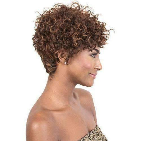 Image of HR MALIN 100% HUMAN HAIR THIN S-CURL SHORT Motown Tress - African American Wigs