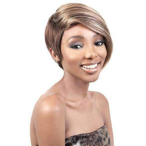 HR MAYA Short Straight Remy Human Hair Wig Motown Tress - African American Wigs