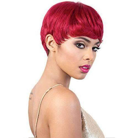 Image of HR. Vega - Short Length Straight Human Hair Wig | Motown Tress - African American Wigs