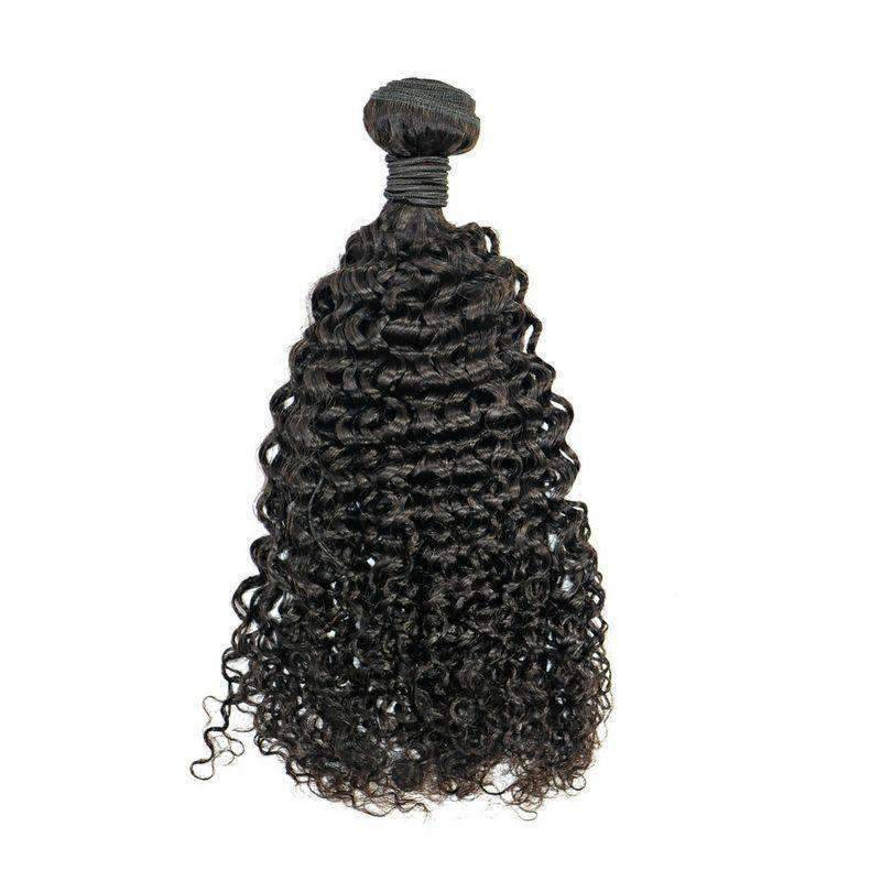 Indian Kinky Curly Weave Bundle - African American Wigs