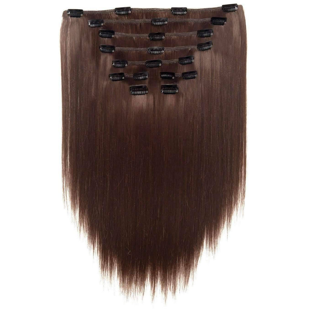 "INTCLIPW14 | 100% Human Hair 14"" 9pc Extension Pack - African American Wigs"