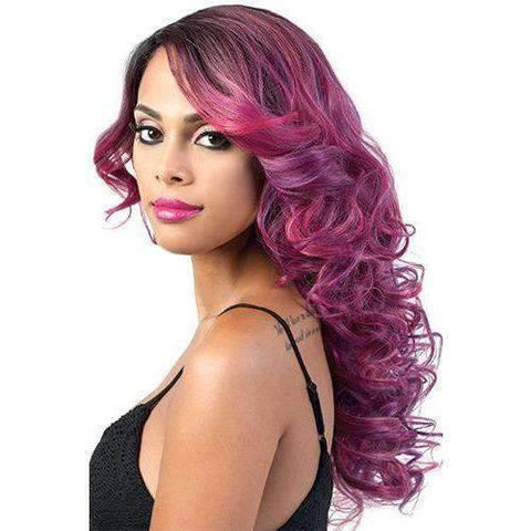 Irina - Long Length Curly Synthetic Wig | Motown Tress - African American Wigs