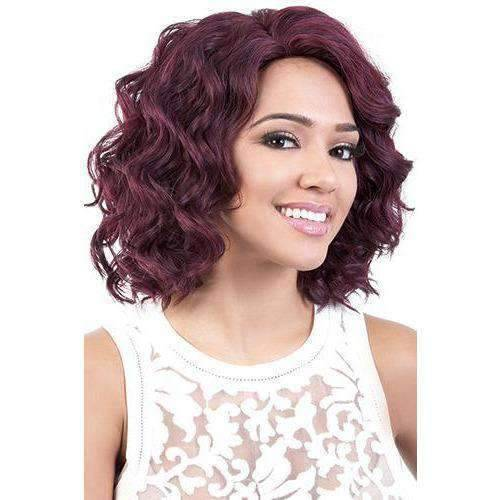 Jacey - Medium Length Wavy Synthetic Wig | Motown Tress - African American Wigs