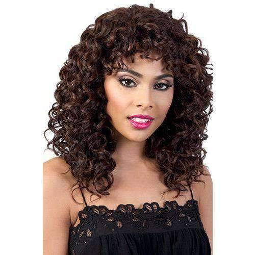 Jelena - Long Length Curly Synthetic Wig | Motown Tress - African American Wigs