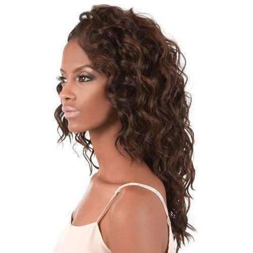 L. Bora - Long Length Curly Synthetic Wig | Motown Tress - African American Wigs