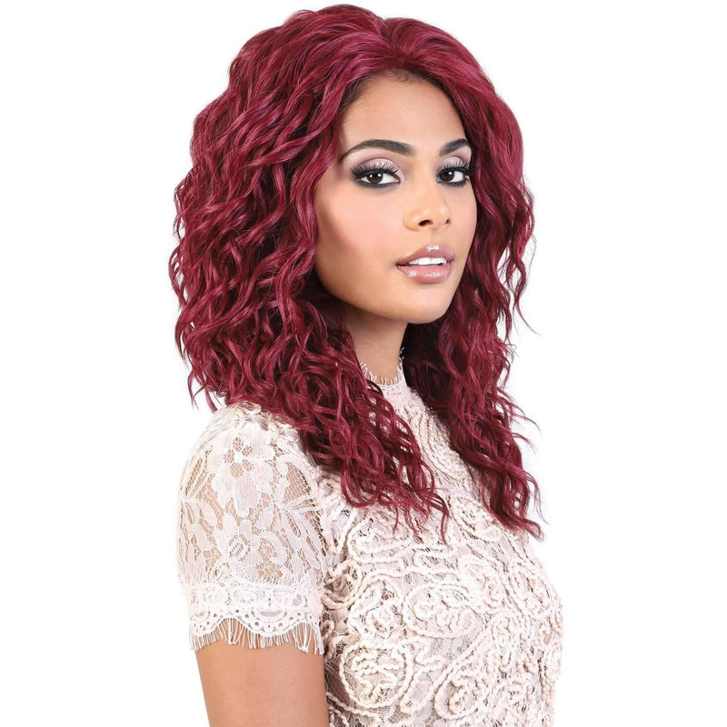 L. DOLLY - Long Length Curly High Quality Synthetic Wigs | Motown Tress - African American Wigs