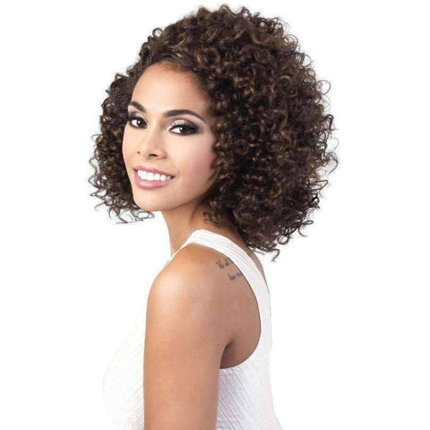 Image of L. Dora - Medium Length Curly Synthetic Wig | Motown Tress - African American Wigs
