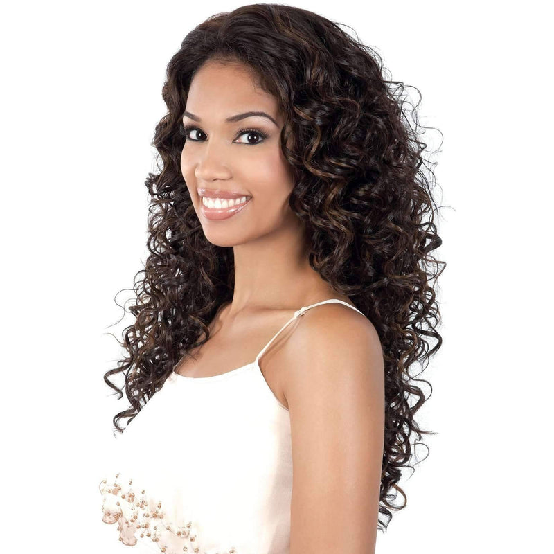 L. MINTA - Long Length Curly High Quality Synthetic Wigs| Motown Tress - African American Wigs