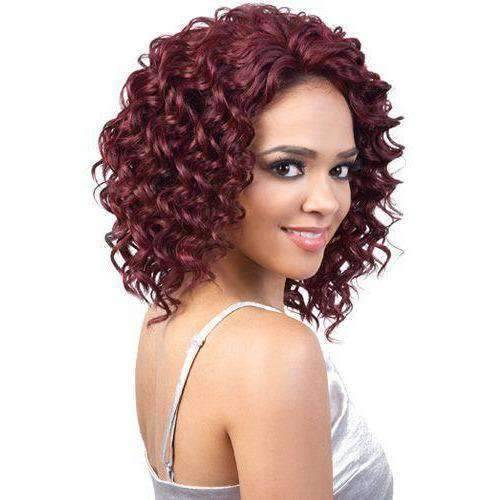 L. Yula - Medium Length Curly Synthetic Wig | Motown Tress - African American Wigs