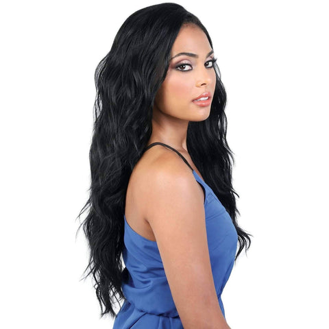 Image of L360 LIZ27 - Long Length Curly Synthetic Wig | Motown Tress - African American Wigs