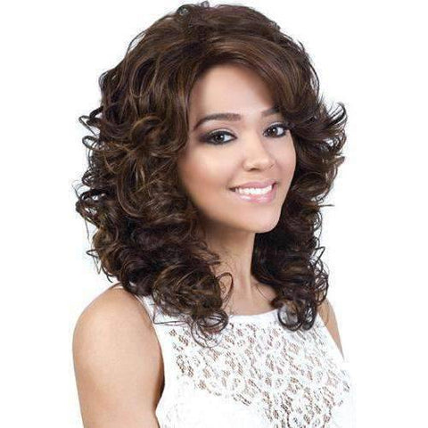 Image of Laila-Motown Tress Synthetic Hair Wig in Color #F4/27/30 - African American Wigs