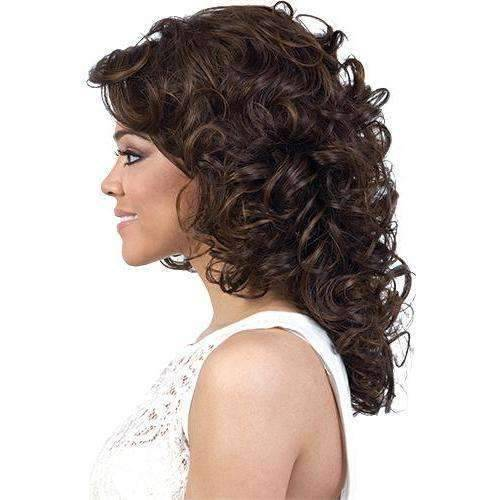 Laila-Motown Tress Synthetic Hair Wig in Color #F4/27/30 - African American Wigs