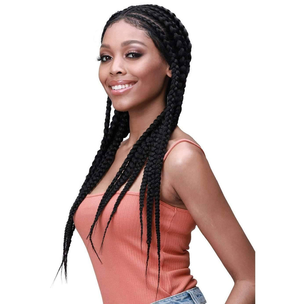 Larissa | Fulani Style Braided Synthetic Lace Front Wig |  Bobbi Boss Wig - African American Wigs