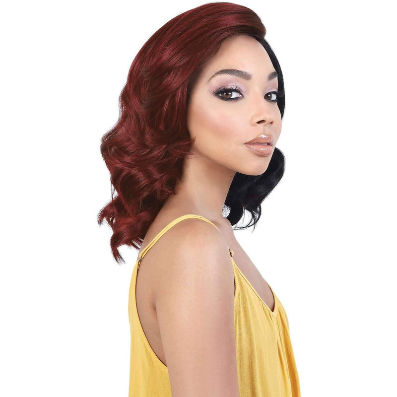 LDP-ALLY - Medium Length Wavy High Quality Synthetic Wig | Motown Tress - African American Wigs