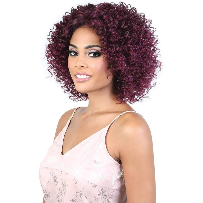 LDP-GINGER - Medium Length Curly Synthetic Wig | Motown Tress - African American Wigs