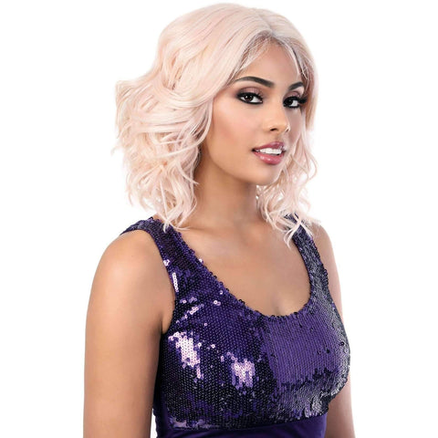 Image of LDP-Semi - Medium Length Wavy Synthetic Wig | Motown Tress - African American Wigs