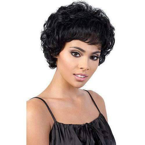 Linda - Long Length Curly Synthetic Wig | Motown Tress - African American Wigs