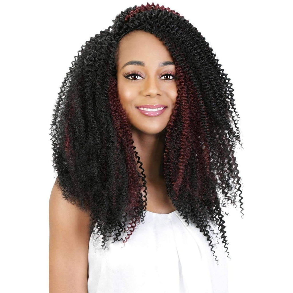 "LoveLock Bohemian | 14"" Human Hair Blend Curl Braid - African American Wigs"