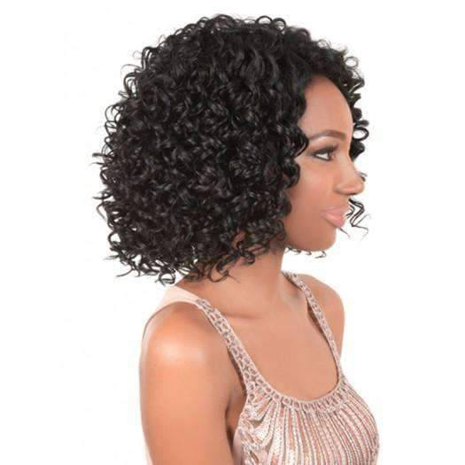 LS-Texas-Motown Tress Synthetic Wig Short in Color #1B - African American Wigs