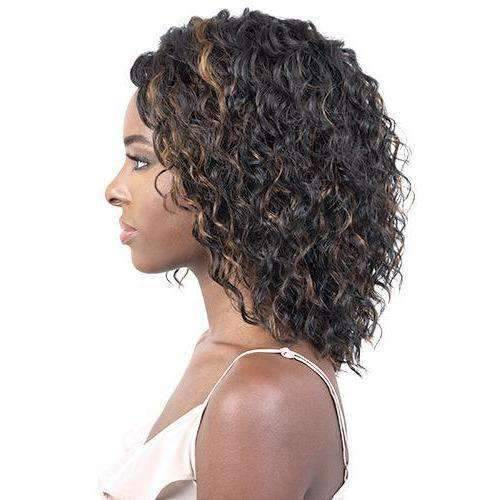 LSDP-Dion - Medium Length Curly Synthetic Wig | Motown Tress - African American Wigs