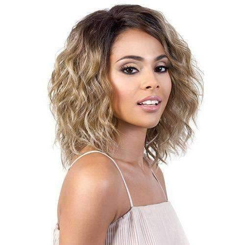 LSDP-Fara - Medium Length Wavy Synthetic Wig | Motown Tress - African American Wigs