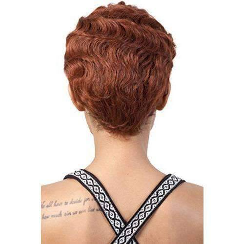 Lucy - Short Length Wavy Synthetic Wig | Motown Tress - African American Wigs