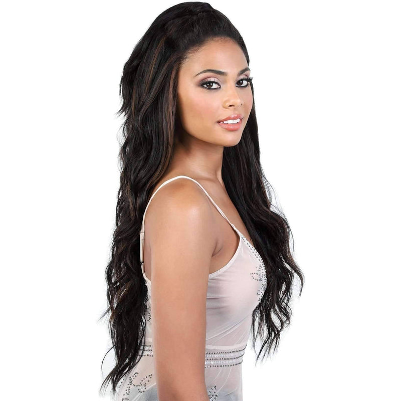 L.UNICORN - Long Length Curly Synthetic Wig | Motown Tress - African American Wigs