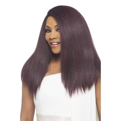 Image of Lynn - Vivica Fox Lace Front Synthetic Wig in Color #1B - African American Wigs