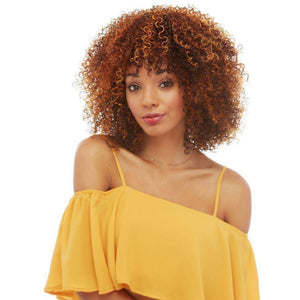 Maggie | Afro Coily Volumous Synthetic Wig - African American Wigs