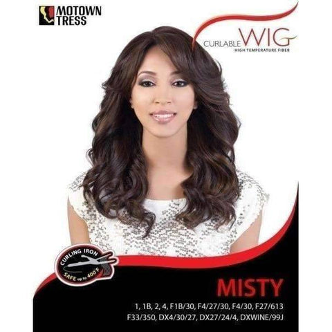 Image of MISTY | Heat Friendly Synthetic Wig (Traditional Cap) - African American Wigs