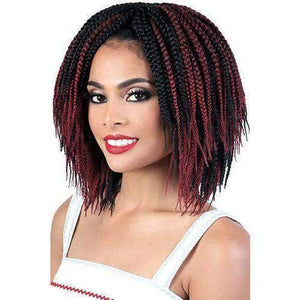 "Motown Tress 10"" X 4 Pack Crochet Feather Lite Box Braid - African American Wigs"