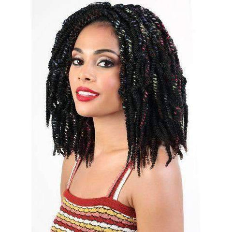 "Motown Tress 14"" X 1 Fluffy Passion Twist Braid - African American Wigs"