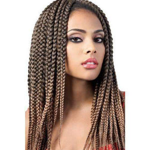 "Motown Tress 14"" X 2 Pack Crochet Featherlite Pre loop Small Box Braid - African American Wigs"