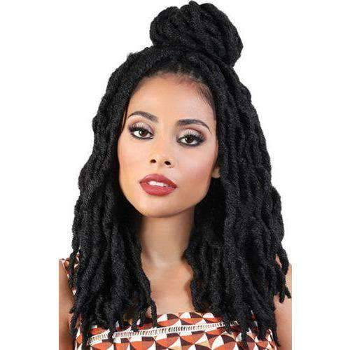"Motown Tress 14"" X 3 Pack Crochet FeatherLite Neo Loc - African American Wigs"