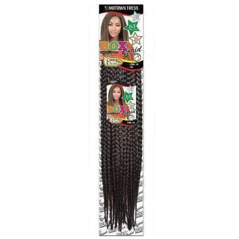 "Motown Tress 18"" Crochet Box Braid Single Pack - African American Wigs"