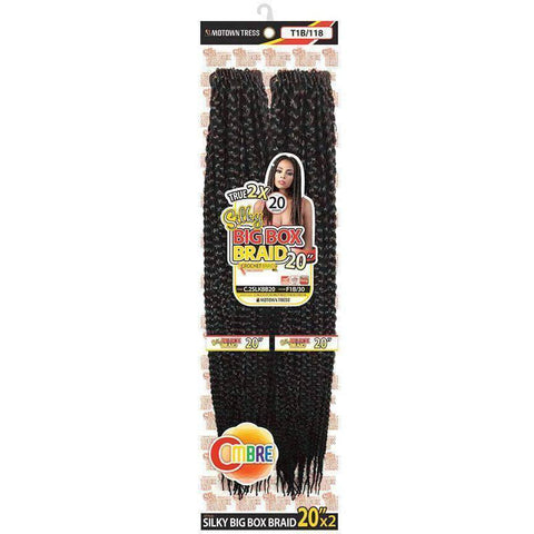 "Motown Tress 20"" X 2 Pack Crochet Silky Feather Lite Pre loop Big Box Braid - African American Wigs"