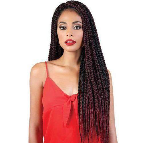 "Motown Tress 30"" X 3 Pack Crochet Feather Lite Pre loop Big Box Braid - African American Wigs"
