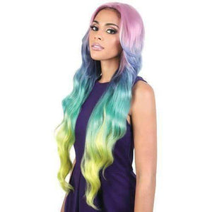 Motown Tress Lace Deep Part Loose Body Super Long LDP-Hera - Unicorn Color - African American Wigs