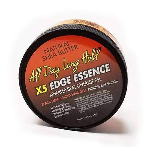My DNA Natural Shea Butter X5 Edge Essence Black Mega Hold Hair Gel - African American Wigs