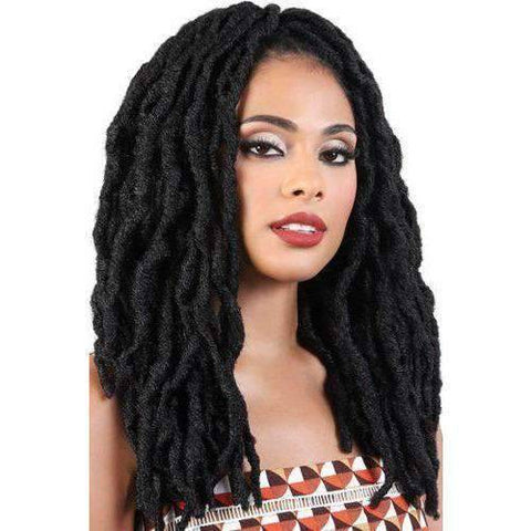 "Image of NEO LOC 18"" X 3 PACK  CROCHET BRAID FEATHERLITE - African American Wigs"