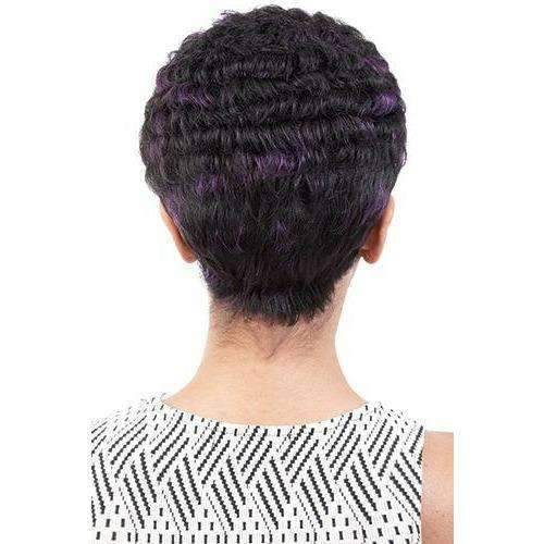 Nikki - Short Length Curly Synthetic Wig | Motown Tress - African American Wigs