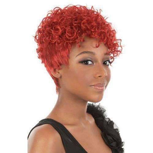 Nori - Short Length Curly Synthetic Wig | Motown Tress - African American Wigs