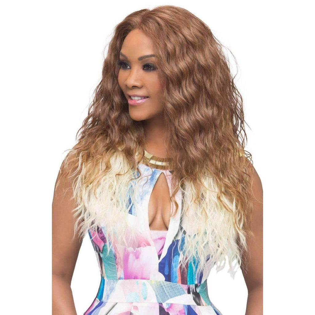 OLIVIA-V | Heat Resistant Synthetic Wig (Lace Front Traditional Cap) - African American Wigs