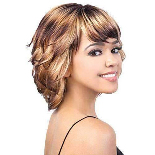 Patchy-21 - Medium Length Wavy Synthetic Wig | Motown Tress - African American Wigs