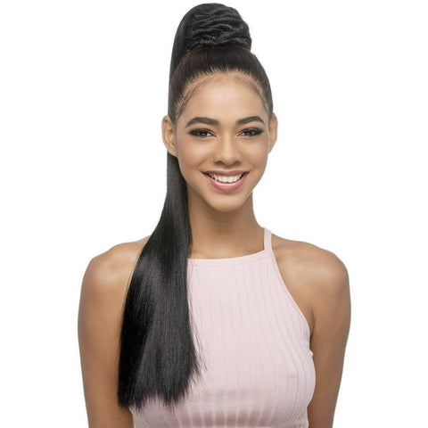 Image of PB-HALEY | Synthetic Heat Resistant Bang & Ponytail (Honeycomb Base) - African American Wigs