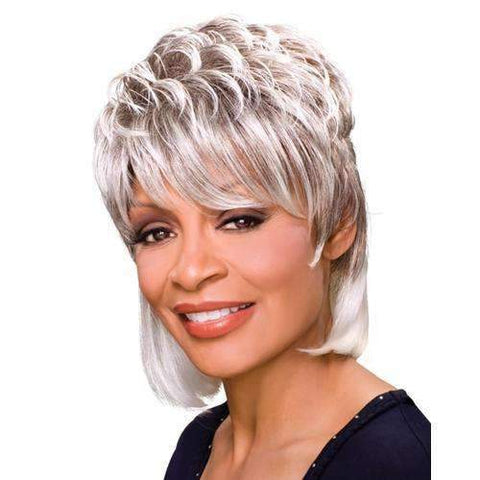 PEGGY - Foxy Silver Synthetic Wig in Color #3T34 - African American Wigs